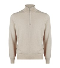 Brunello Cucinelli Half Zip Cashmere Sweater Male