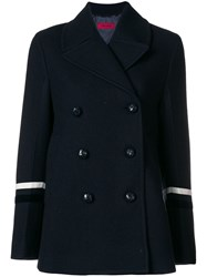 The Gigi Double Breasted Fitted Coat Blue