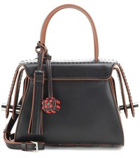 Tod's Twist Mini Leather Shoulder Bag Black