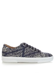 A.P.C. Steffi Printed Trainers Blue Multi