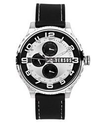 Versus By Versace 50Mm Globe Oversized Chronograph Watch Silver