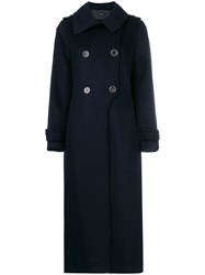 Mackage Double Breasted Coat Blue