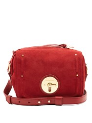 See By Chloe Lois Small Suede Cross Body Bag Red