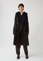 Y's U Design Slv Hood Coat Brown