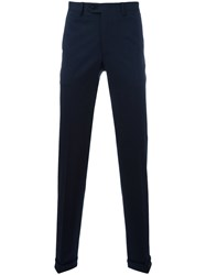 Brioni Straight Leg Trousers Blue
