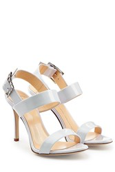 Giuseppe Zanotti Patent Leather Sandals White