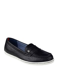 Tommy Hilfiger Butter Leather Loafers Black