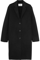 Acne Studios Avalon Double Oversized Wool And Cashmere Blend Coat Black
