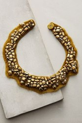 Anthropologie Alice Army Clustered Collar Necklace Green