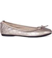 Butterfly Twist Olivia Quilted Ballet Pumps Rose Gold