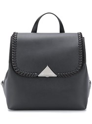 Emporio Armani Fold Over Backpack Black