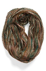 Women's Collection Xiix Knit Infinity Scarf Green