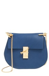 Chloe Chloe 'Drew' Leather Crossbody Bag Blue Royal Navy