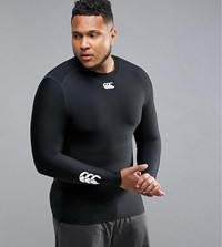Canterbury Of New Zealand Plus Thermoreg Baselayer Long Sleeve Top In Black E546845 989