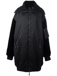 Puma Oversized Zipped Coat Black