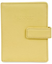 Kenneth Cole Reaction Deluxe Passport Wallet With Rfid Yellow Ray