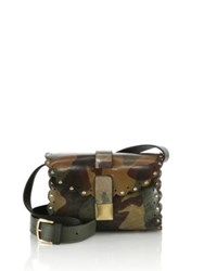 Furla Amazzone Mini Camo Print Leather Crossbody Bag Military