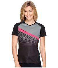 Pearl Izumi Launch Jersey Black Smoked Fracture Women's Clothing Multi