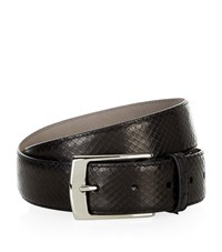 Harrods Of London Leather Python Print Belt Unisex