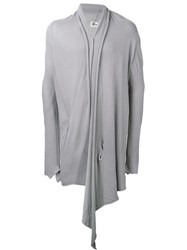 Lost And Found Ria Dunn Draped Long 'Over' Cardigan Grey