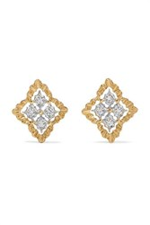 Buccellati Rombi 18 Karat White And Yellow Gold Diamond Earrings