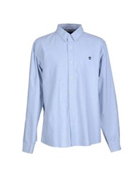 Timberland Shirts Shirts Men Sky Blue