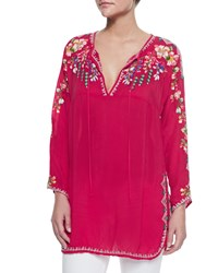 Johnny Was Vanessa Georgette Embroidered Tunic Petite Women's
