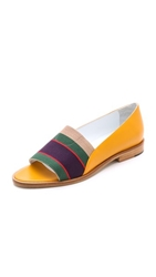 Band Of Outsiders Peep Toe Loafers Marigold