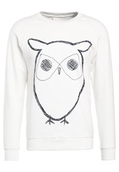 Knowledge Cotton Apparel Big Owl Sweatshirt Star White