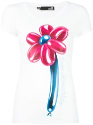 Love Moschino 'Flower' T Shirt White