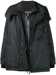 The Viridi Anne Oversized Padded Coat Black