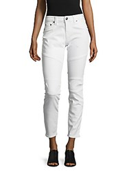 True Religion Cropped Cut Jeans White