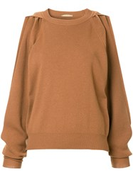Nehera Krupat Knitted Jumper Brown