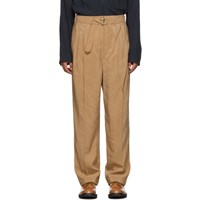 Christophe Lemaire Black Silk Pleated Trousers