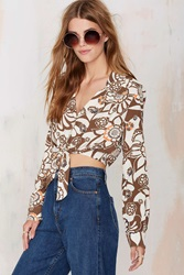Nasty Gal After Party Vintage Sound Check Crop Top