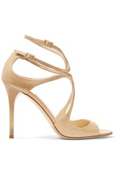 Jimmy Choo Lang 100 Patent Leather Sandals It40.5