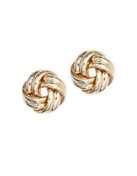 Anne Klein Goldtone Knot Stud Earrings