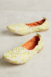 Anthropologie Fl Textile Elastic Choke Yellow