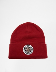Icon Brand Patch Beanie Hat Red