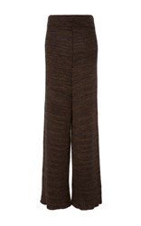 Tuinch Wide Leg Knit Pant Brown