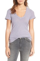 James Perse Women's Slub Cotton V Neck Tee Soft Lavender