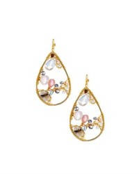 Nakamol Beaded Teardrop Earrings Pink