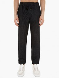 Casely Hayford Black Relaxed Wool Blend Trousers