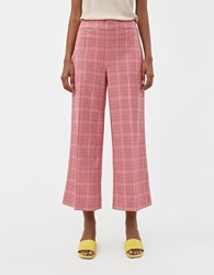 Just Female Maxime Trouser In Rose Check