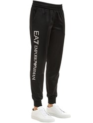 Emporio Armani Train Logo Series Track Pants Black White