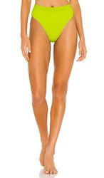 L Space X Revolve Frenchi Bikini Bottom In Green. Acid Green