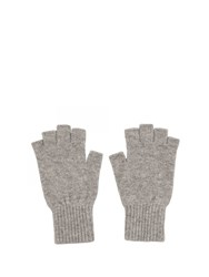 Johnstons Of Elgin Cashmere Fingerless Gloves Grey