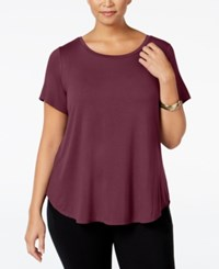 Alfani Plus Size High Low T Shirt Marooned