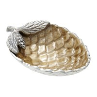 Julia Knight Pine Cone Bowl Toffee Gold