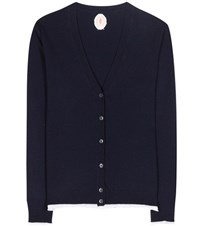 Jardin Des Orangers Wool And Cashmere V Neck Cardigan Blue